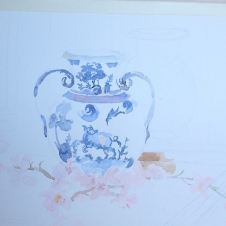 Starting out with the vase and flowers