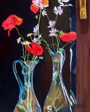 Wild Flowers Looking in Mirror