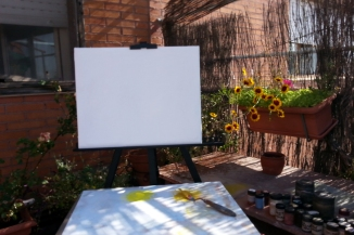 Painting outdoors