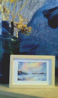 Sea Scape Watercolor in a Frame