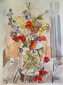 Wild Flowers in Pickle Jar 2015