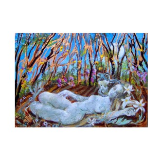 Deep Slumber 2020 oil on wood panel 13x18cm / 5×7 in €50.00