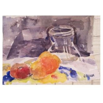 Glass Jar with Fruit 2018