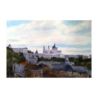 La Almudena 2019 Oil on wood 21×30 cm 8×12″ €40