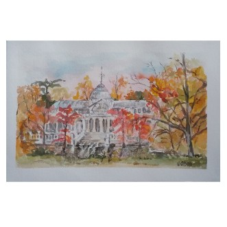 Palacio de Cristal Autumn of 2020 Watercolor on Arches 300 gsm – 19×28 cm 7.5 x 11.25 €35