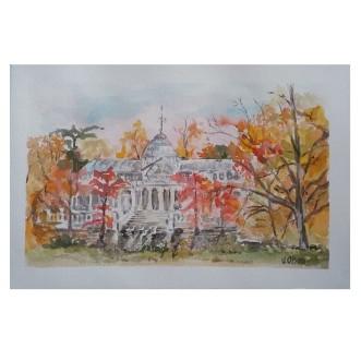 Palacio de Cristal Autumn of 2020 Watercolor on Arches 300 gsm – 19×28 cm 7.5 x 11.25 €35