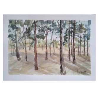 Parque Forestal Madrid Sur 2020 Watercolor on Michael Paper 280 gsm 21×29.5 cm / 8.25×11.75 €25