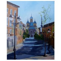 Real Basilic de San Francisco el Grande, Madrid 2019 Oil on wood 20×25 cm 7.8×9.75″ €40