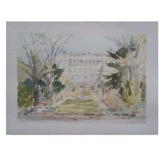 Garden Campo del Moro Madrid, Spain 2020 Watercolor on Arches 300 gsm – 14 x19 cm 7.5 x5.5 in €60