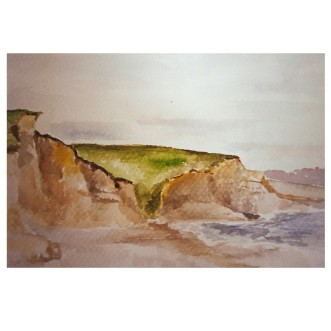 Drakes Beach 1986 Watercolor - 14.5x19.5cm / 5.5 x 7.5 in €80 Euros
