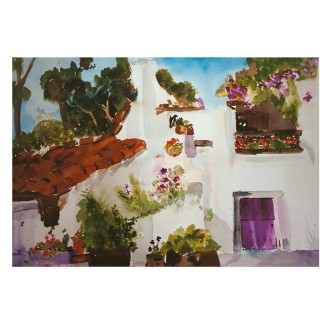 Spanish Village Balboa Park San Diego, California 1986 Watercolor 38×56.5 cm 14.9×22.2 in €200 Euros