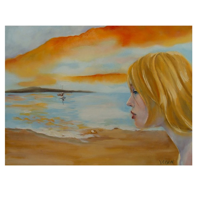 Circe Beckoning Ulysses 2009 Oil on Canvas 46×61 cm / 18 x24 in €200