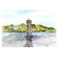 Lake Anza Tilden Park, California 2010 Watercolor – 19 x 28 cm / 7.5 x 11 in €60 Euros