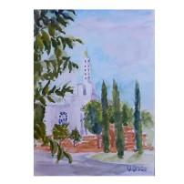 "Templo Lds 2016 watercolor on watecolor paper 15x20cm 10×8 "" €20"