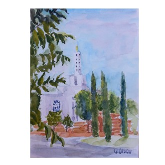 "Templo Lds 2016 watercolor on watecolor paper 15x20cm 10×8 "" €20"