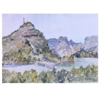 El Chorro en Marzo Malaga 2018 Watercolor on Arches 300 GMS – 28×38 cm 11×15″ €110 Euros