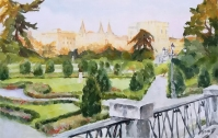 Plaza del Parterre 2020 Watercolor on Arches 300 gms 38×56 cm / 15×22 in $145