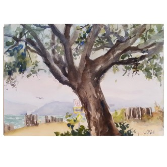 Alameda Shoreline 2015 Watercolor on Arches 300 GSM 28x38 cm / 11x15 in €50 Euros
