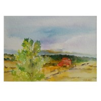 Casa en el Campo Cantalojas Spain 2007 – Watercolor on Arches 300 gsm – Matted in 8×10″ Museum Board (25.4 x20.3 cm) €65