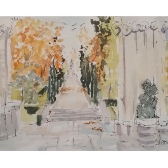 El Buen Retiro 2019 Watercolor on Arches 300 gsm 19 x29 cm / 7.5 x 11 in €35