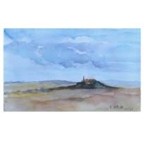 El Cerro de los Angeles September 2011 Watercolor – 19x28cm 7.5x11in €20 Euros