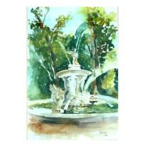 Fuente de Narciso en el Parque del Principe de Aranjuez, Spain 1998 44×34 cm 17 x13 in (Framed) €110 Euros