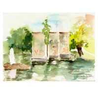 "Parque de Berlin 1997 on Arches 300 GSM 13×17.5 cm 5×7 "" €35 Euros"