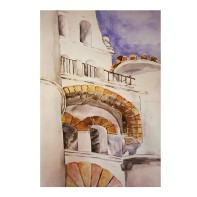 San Diego State University 1988 Watercolor 29.5x 42cm / 11.6x16.5 in €95 Euros