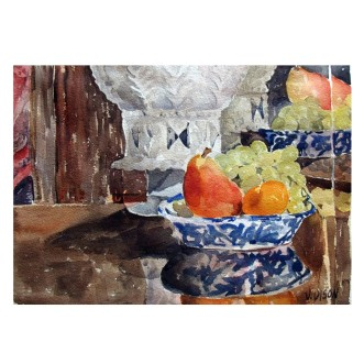 Spanish Botijo with Fruit 2014 Watercolor on Arches 300 GMS – 28×38 cm 11×15 in €110