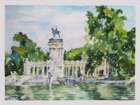 El Estanque del Parque del Retiro 2021 Watercolor on Arches 300 gms 28.5×38.5 cm / 11.5×15 in $72