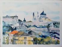 La Almudena Visto desde el Puente del Rey 2021 Watercolor on Arches 300 gms 28.5×38.5 cm / 11.5×15 in $85