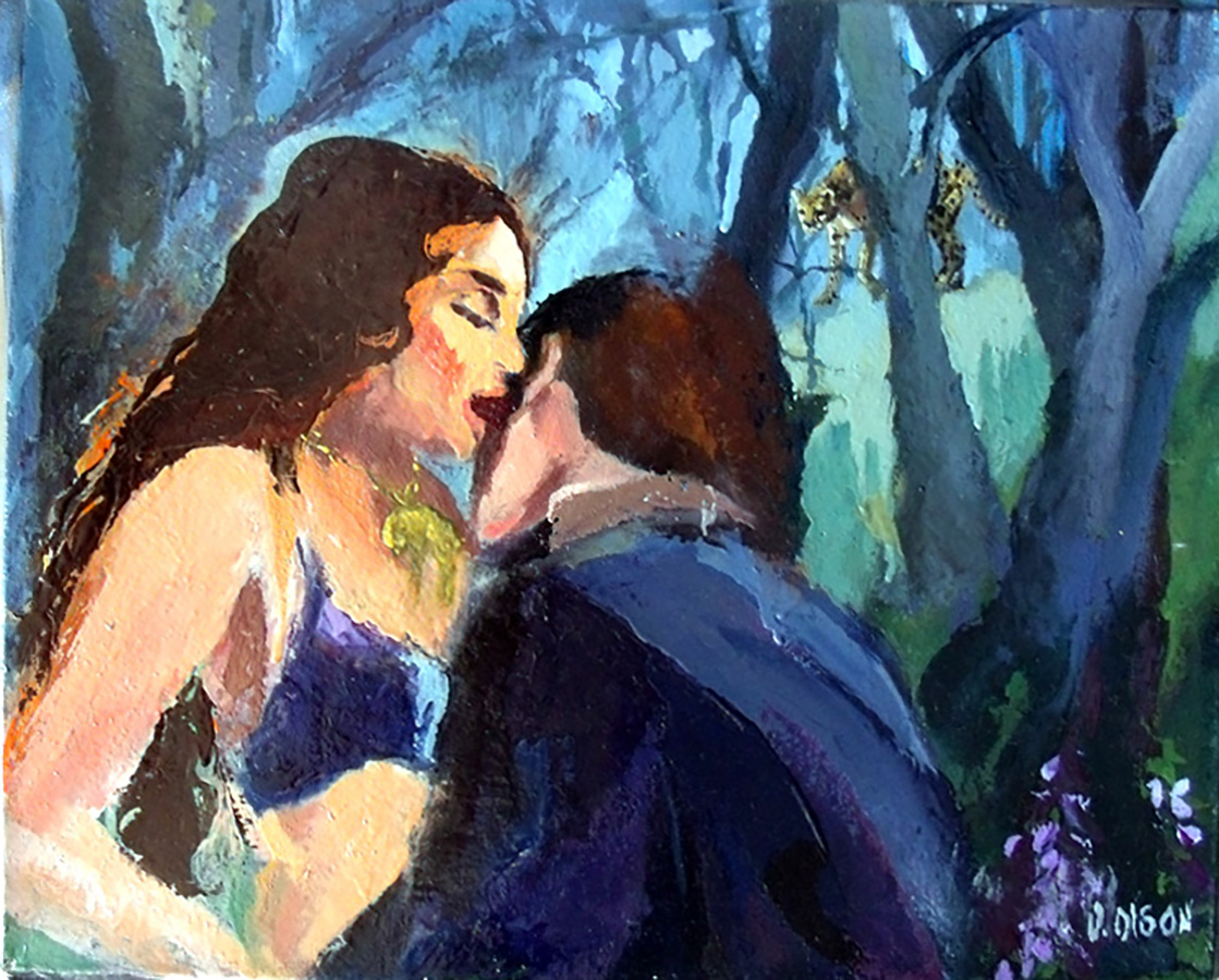 Oil Painting of Francesca and Paolo