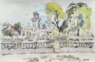 Watercolor of Estanque en Junio
