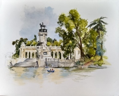 Painting of Monument to Alfonso XII
